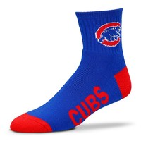 For Bare Feet Chicago Cubs Team Color 1/4-Crew Socks - Adult, Size: