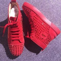 DCCK Cl Christian Louboutin Louis Spikes Style #1881 Sneakers Fashion Shoes