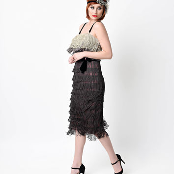Preorder -  Iconic by UV Ombre Harlem Tiered Fringe Flapper Dress