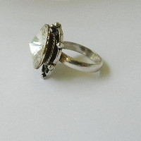 Big stone ring size 7 1/2 diamond look by JewelrybyDecember67