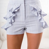 Brantley Ruffle Shorts (Blue)