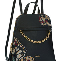 Calvin Klein Hera Pebble Embroidered Small Backpack | macys.com