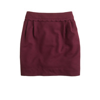 Scallop-trim mini - Mini - Women's skirts - J.Crew