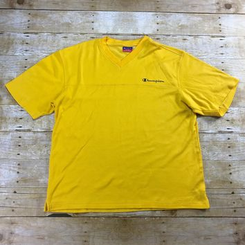 Vintage 90s Champion Authentic Athletic Apparel Gold Shirt Mens Size Large