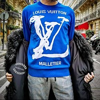 LV Autumn and winter cotton knitted sweater