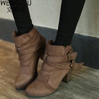 Women's Boots 2017 Hot Sale New Snow Ankle Boots Autumn And Winter Shoes Female Warm Women's Shoes Boots Footwear DDT1056