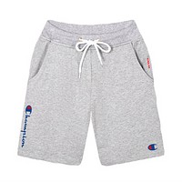 Champion Fashion New Summer Letter Leisure Women Men Shorts Gray