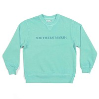 Youth SEAWASH™ Sweatshirt in Antigua Blue by Southern Marsh