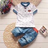 BibiCola New Summer Boys Clothes Children Clothes for Boys Toddler Baby Boys Clothing Set casual  Short Sleeve T Shirts+ Pant