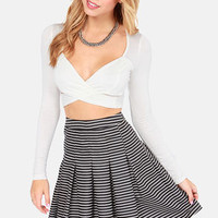 On Crop of the World Ivory Crop Top