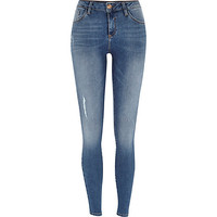 River Island Womens Mid wash Amelie superskinny jeans
