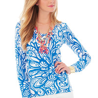Lilly Pulitzer Adelaide Printed V-Neck Sweater