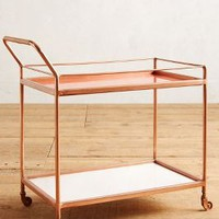 Delaney Bar Cart by Anthropologie in Apricot Size: One Size Furniture