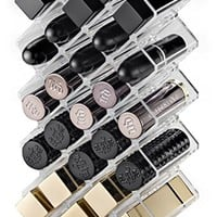byAlegory Acrylic Lipstick Makeup Organizer 28 Spaces | Designed To Stand, Lay Flat & Be Stacked