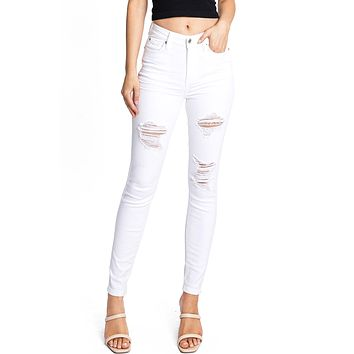 Castaway High Rise Skinny Jeans