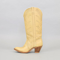 70's Blonde Leather WESTERN Boots (US 6.5)