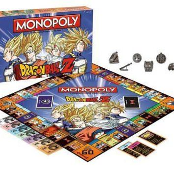 USAopoly Dragon Ball Z Edition Monopoly Board Game NEW DBZ Collectible