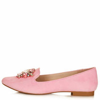 MOONSTONE Jewelled Slippers - Pink