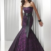 Sexy strapless pink beads A-line Prom Party Ball Dress Bridesmaid Cocktail Gown