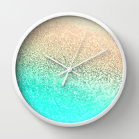 *** GATSBY AQUA GOLD *** Wall Clock by Monika Strigel for your perfect girlsroom !!! College !!!