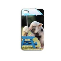 Adorable Baby Pig Ice Cream Cute Funny iPod Case iPhone Hot Phone Cover Cute