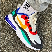 NIKE Air Max 270 React Air New fashion hit color cushion jogging shoes