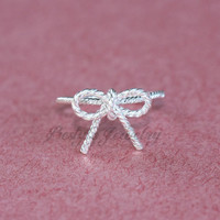 Wire Bow Silver Ring - Memorial Gift - Gift Ideas - Designed For Every Day