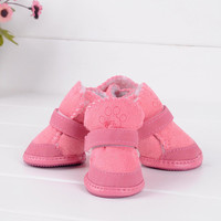 2Color Small Dog Cat Pet Shoes Chihuahua Puppy Winter Warm Boots Shoes S-XXL