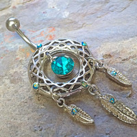 Dream Catcher Belly Button Ring