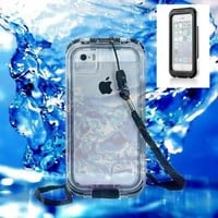 PC Waterproof Shockproof Dirt Snow Proof TouchScreen Case for iPhone 5S 5C 5 4S