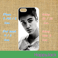 Justin Bieber - iPhone 4 case , iphone 5 case , ipod touch 4 / 5 case, samsung galaxy S3 / S2 case in black or white