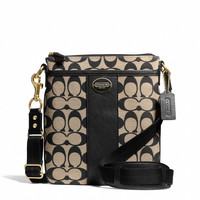 LEGACY SWINGPACK IN PRINTED SIGNATURE FABRIC