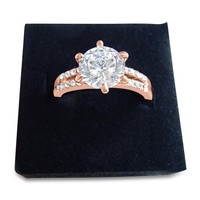 1 ct Solitaire Cubic Zirconia Simulated Diamond Ring