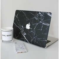 Laptop Decal Cover in black marble - 13 Inch MacBook air