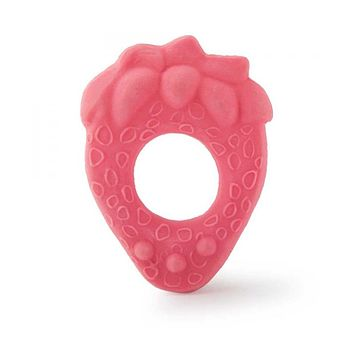 Natural Rubber Strawberry Chew Teether