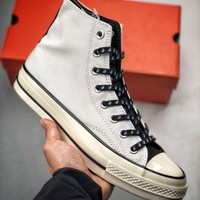 Kuyou Fa19630 Converse 1970s Chinese Tai Chi White High Top Canvas Shoes