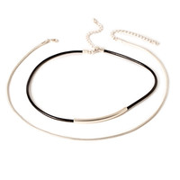 Corded Choker Necklace Set