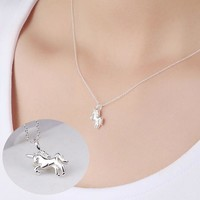 925 Sterling Silver Unicorn Necklace