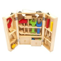 DCCKL72 Baby Toys Kids Wooden Multifunctional Tool Set Maintenance Box Wooden Toy Baby Nut Combination Chirstmas/Birthday Gift