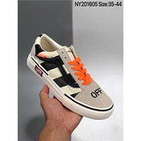 OFF-White x Vans Old Skool cheap fashion Mens and womens sports shoes