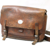 SWISS ARMY BAG 1938, WW2 Military Saddle Leather Man Bag, Gunsmith's Tool Bag, Men's Crossover Messenger Bag from Switzerland