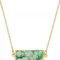 Druzy Bar Pendant Necklace