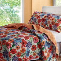 Larisa Floral Bedding Quilt Set