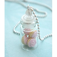 Pink Cupcakes in a Jar Necklace