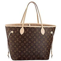 Tagre™ LV Louis Vuitton Neverfull MM Monogram Canvas Handbag Shoulder Bag Tote Purse