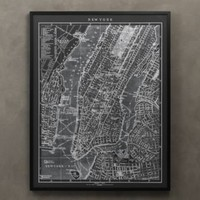 1900s Lithograph Map of New York | Maps | Restoration Hardware