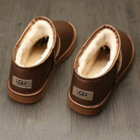UGG Fashion leather boots boots in tube Boots Bronze G-A0-HXYDXPF