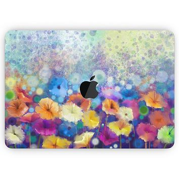 """Abstract Flower Meadow v2 - Skin Decal Wrap Kit Compatible with the Apple MacBook Pro, Pro with Touch Bar or Air (11"""", 12"""", 13"""", 15"""" & 16"""" - All Versions Available)"""