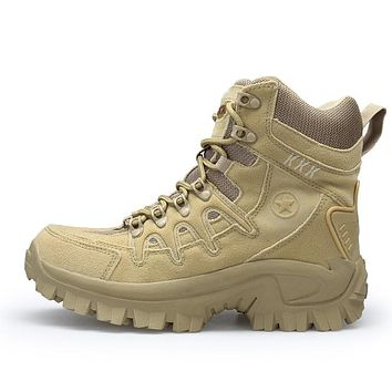 Men Military Leather Special Force Tactical Combat Outdoor Army Boots