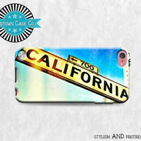 California Street Sign Sunny iPod Touch 5th Gen Generation Rubber Case